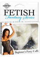 Fetish Fantasy Series Beginners Furry Cuffs White