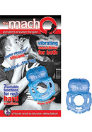 The Macho Erection Keeper 7 Function Vibrating Cockring Blue