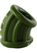 Bent 1 Curved Silicone Ballstretcher Army Green 2.25 Inch