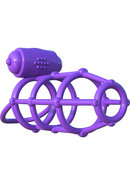 Fantasy C-ringz Vibrating Cock Cage Purple