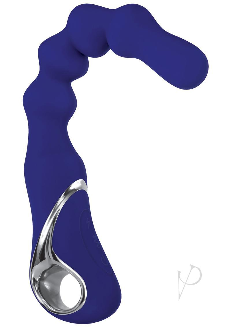 Adam And Eve The Bad Ass Booty Vibe With Power Boost Silicone Usb Rechargeable Anal Beaded Vibrator Blue 10.25 Inch